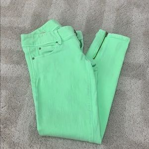 Lilly Pulitzer Lime Green Skinny Jeans